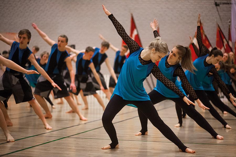 Rytmisk gymnastik og dans på efterskole