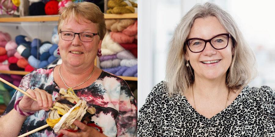 Her ses Lene Randorff, & Kirsten Nyboe er begge undervisere på Strikkehøjskole 2021